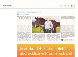 Georg Moosreiner zusammen mit Plaisir Pur im Handelsblatt