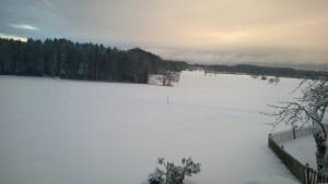 Winterlicher Blick gen Osten