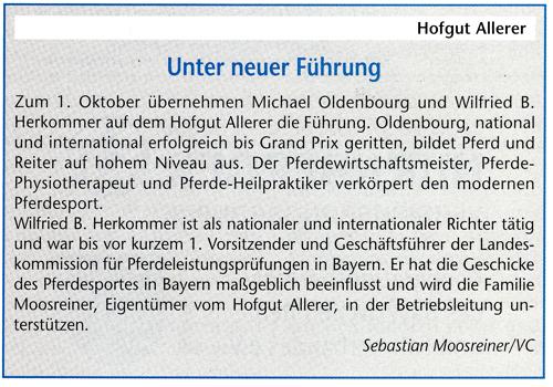 Artikel in Bayerns Pferde 10/2009