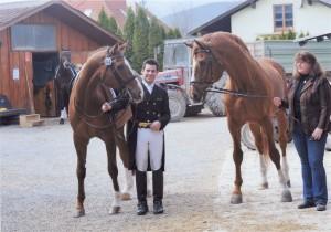 Franz Trischberger mit Bourbon K und dessen Vater Brandenburg