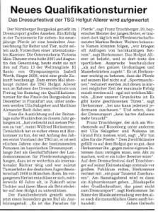 Süddeutsche Zeitung vom 02.07.2010   Dressurfestival 2010