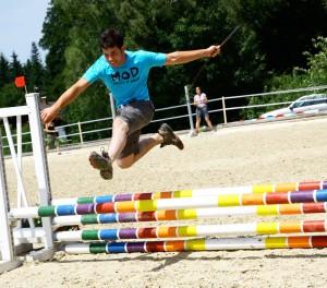 Gut vorbereitet auf die BM: Franz Trischberger beim Jump & Run auf dem Hofgut Allerer