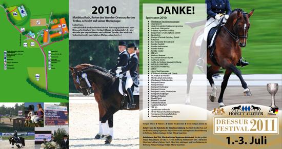 Flyer Dressurfestival 2011 (PDF)