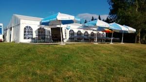 Zelt vor Turnier 2013