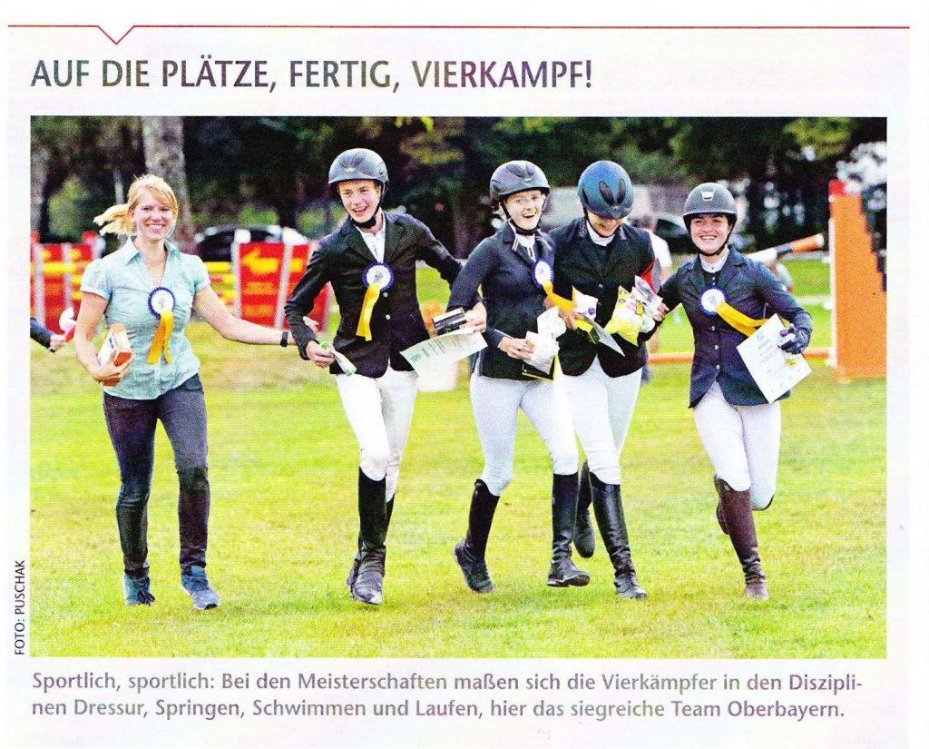 Emma Velte (rechts) vom Hofgut Allerer siegreich mit dem Oberbayern Team.